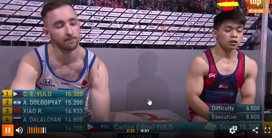 Ejercicio de suelo gimnasia artística masculina