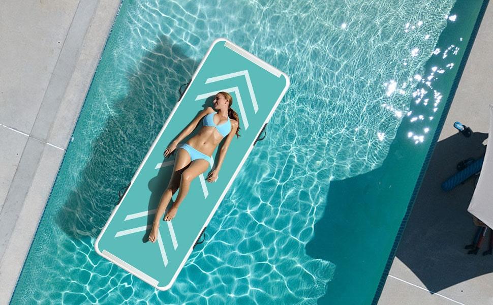 Colchoneta hinchable para piscinas